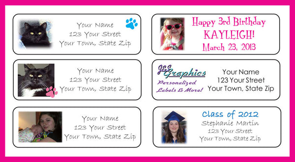 Personalized Your PHOTO or LOGO Personalized Return Address Labels - J & S Graphics