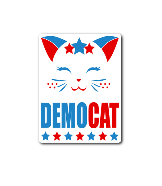 My Cat is a Democrat vinyl decal sticker lettering funny cats