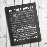 WE DO DISNEY - MOUSE HOUSE RULES Digital Design Typography Art - J & S Graphics
