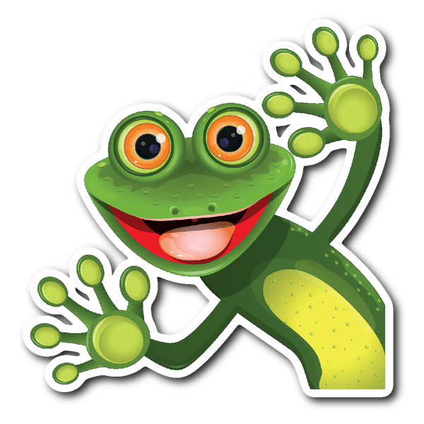 HELLO FROG Vinyl Die Cut Sticker - J & S Graphics