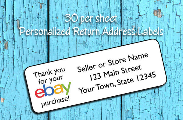 ebay Order Return Address Labels, 30 Personalized Return Address ebay Store Labels - J & S Graphics