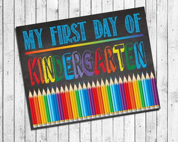First Day of School, ALL GRADES Photo Prop, 8x10 Art Print, Back to School PRINT - J & S Graphics