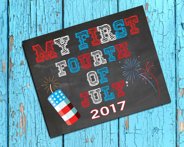 My First Fourth of July Photo Prop, 8x10 Baby's First Fourth of July INSTANT DOWNLOAD