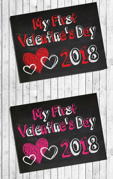 My First VALENTINE'S DAY Photo Prop, 8x10 Baby's First VALENTINE'S INSTANT DOWNLOAD
