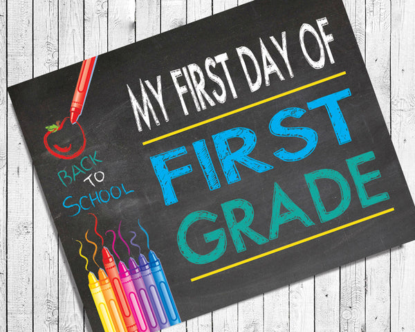first day of first grade photo prop