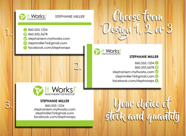It Works Distributor Business Cards - Personalized and Printed - J & S Graphics