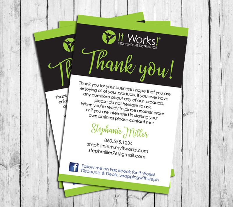 588766897c658 IT WORKS THANK YOU CARDS, Digital Printable, Personalized Note Cards