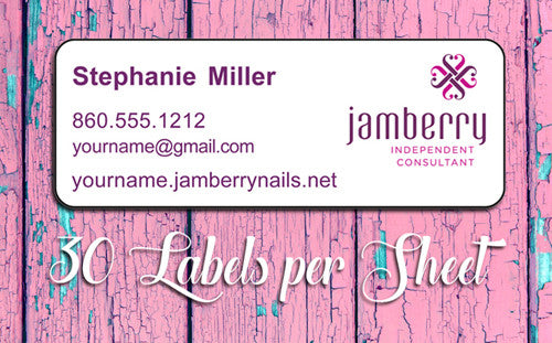 Personalized JAMBERRY Consultant Catalog/Address LABELS
