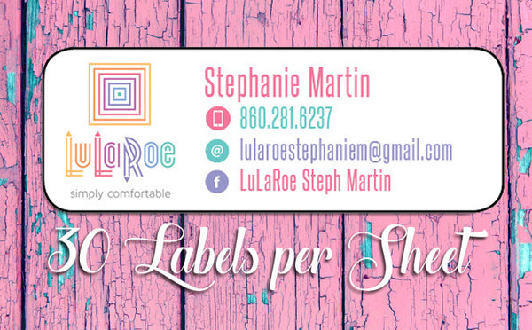 Personalized LuLaRoe Labels, 30 Return Address, Home Parties, Leggings - J & S Graphics