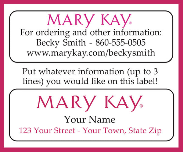 MARY KAY Catalog or Address LABELS, 30 Personalized Labels - J & S Graphics