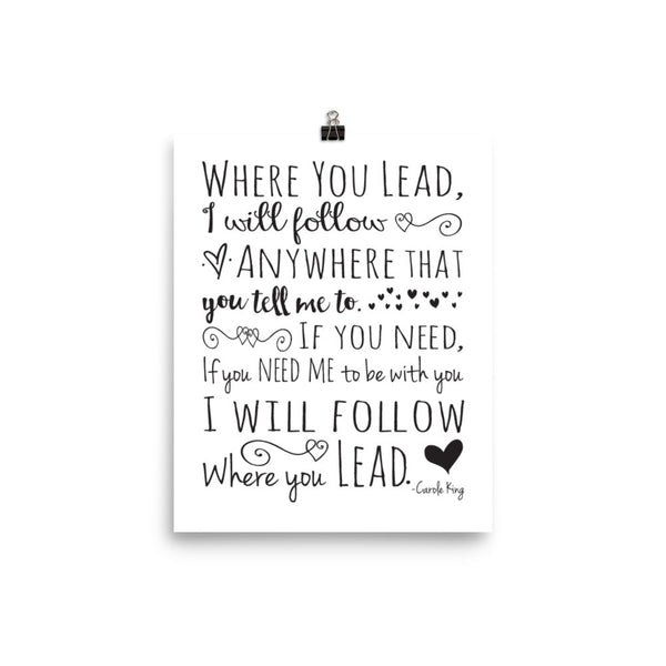 Where You Lead, I Will Follow Poster, Gilmore Girls