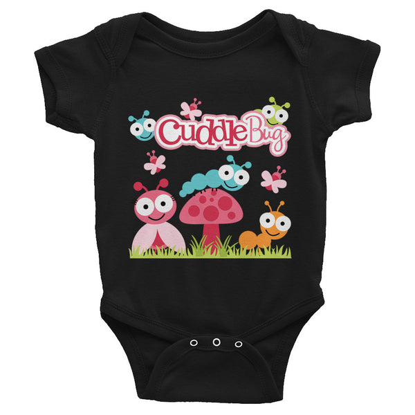 Cuddle Bug Infant Snap Bodysuit - Pink Colors - J & S Graphics