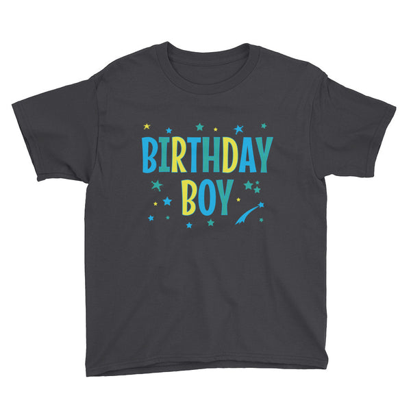 BIRTHDAY BOY Youth Short Sleeve T-Shirt - J & S Graphics