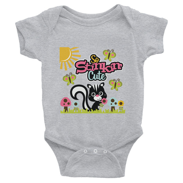 Cute Skunk So Stinkin' Cute Infant Snap Bodysuit - J & S Graphics