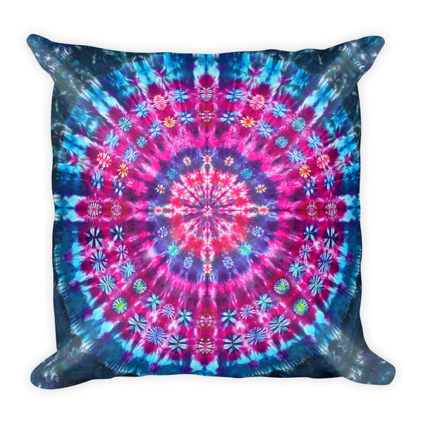 Retro Tie Dye Design Square Pillow