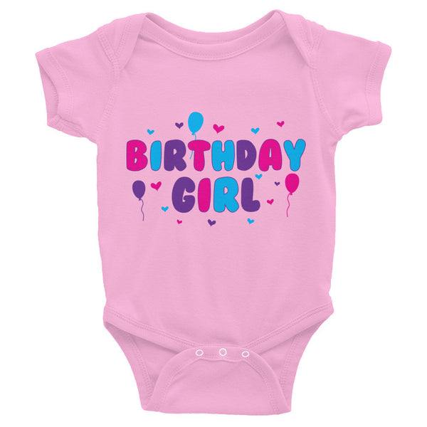 Birthday Girl Infant Snap Bodysuit - J & S Graphics