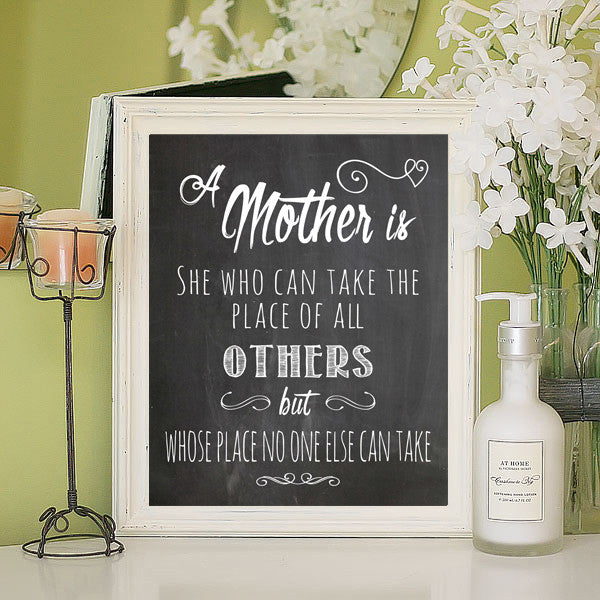 A MOTHER is... Typography, Instant Download Printable - J & S Graphics