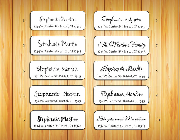 Personalized Return ADDRESS Labels - Family Name - J & S Graphics