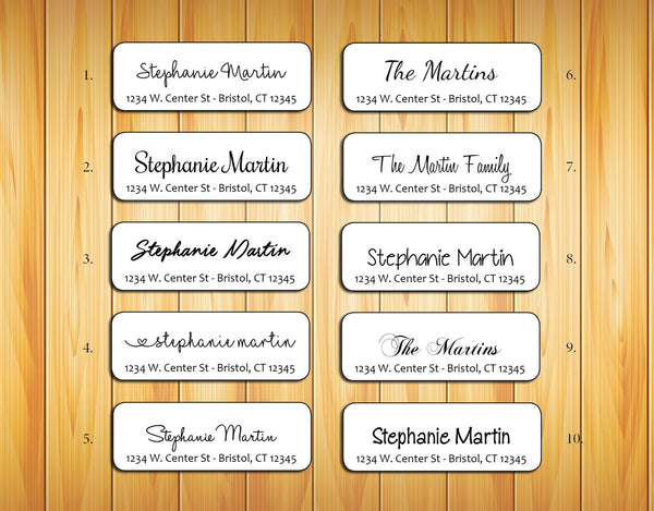 Personalized Return ADDRESS Labels - Family Name 2 - J & S Graphics