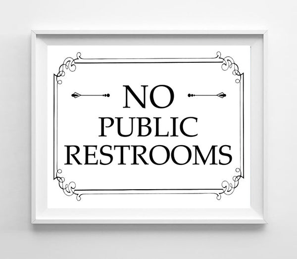graphic relating to No Public Restroom Sign Printable referred to as Printable 8x10 No General public Restroom Instantaneous Obtain Indication for
