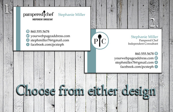 Pampered Chef Consultant Business Cards - Printed