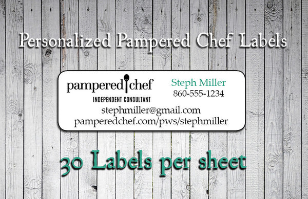 Personalized PAMPERED CHEF Consultant Labels or Address Labels