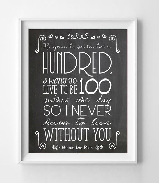 WINNIE the POOH Quote Digital Design Typography Art File - Instant Download DIY - J & S Graphics