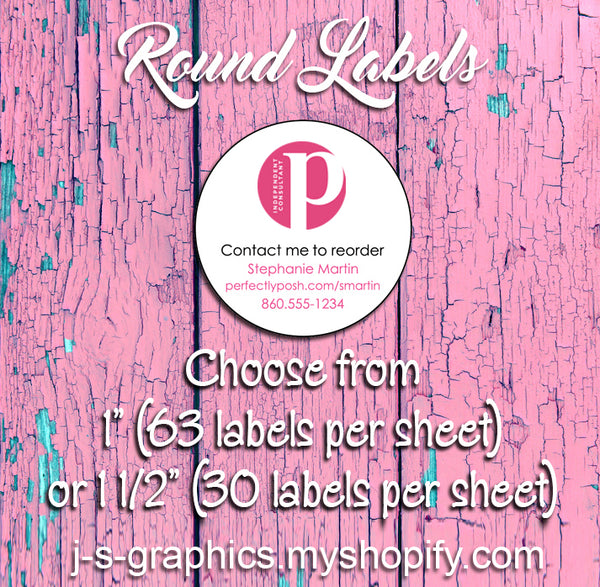 Greatest Personalized Perfectly Posh Round Reorder Labels, new posh logo  ZI99