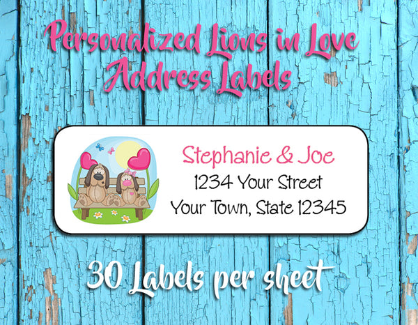 Personalized PUPPY LOVE Address Labels, Return Address Labels, Wedding, Newlyweds