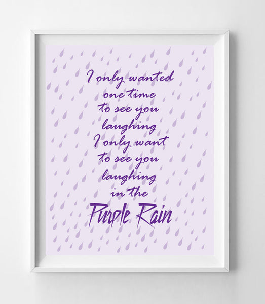 PURPLE RAIN, PRINCE 8x10 Wall Art INSTANT DOWNLOAD - J & S Graphics