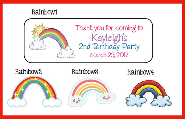 personalized rainbow return address labels sets of 30 your choice