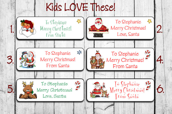 Christmas Labels.Personalized Christmas Santa Labels For Kids Gifts Santa Gift Labels New Designs