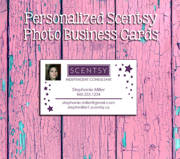 SCENTSY Consultant PHOTO Business Cards - Printed