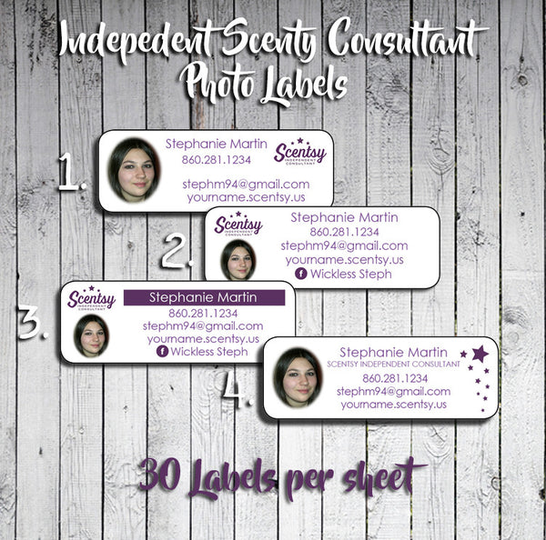 personalized scentsy consultant photo catalog labels or address