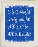 SILENT NIGHT Christmas Decor 8x10 Wall Art INSTANT DOWNLOAD