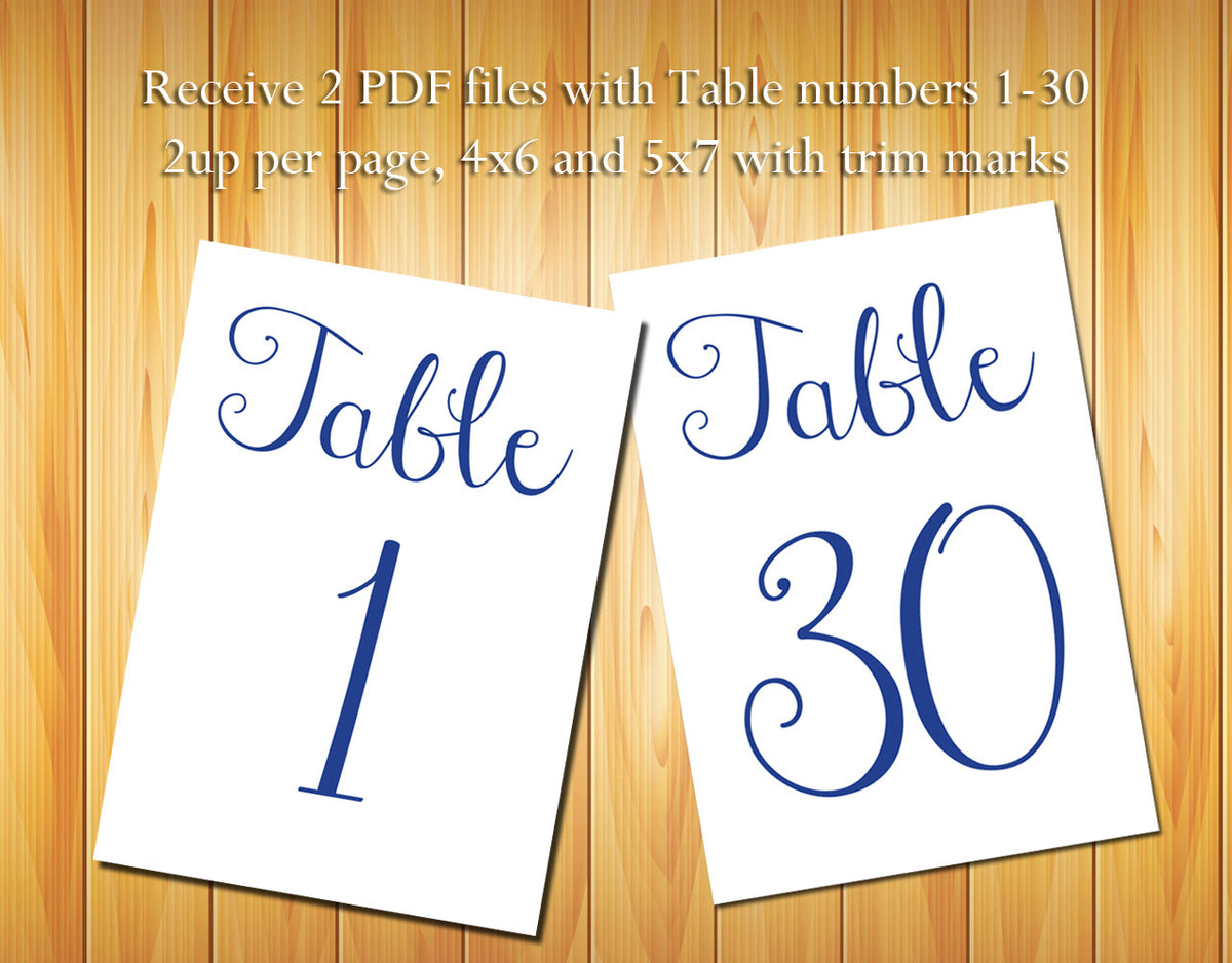 picture regarding Diy Printable Table Numbers named Desk Quantities 1-30, Military services Blue Script - Do-it-yourself Printable Desk Figures for Wedding ceremony or Other Celebration