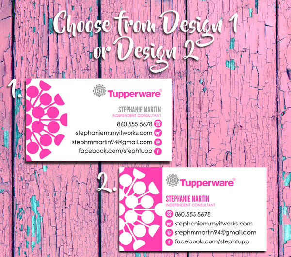 TUPPERWARE Representative Business Cards - Printed