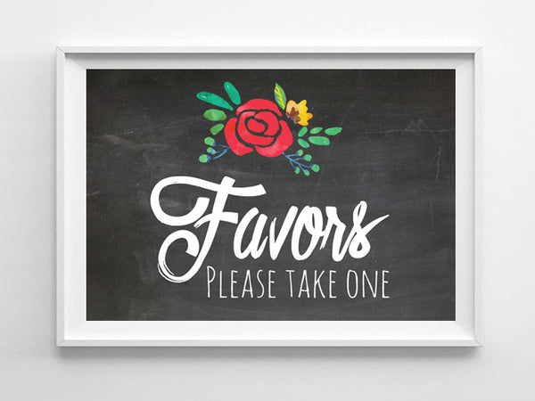 Rustic Look Take a FAVOR 8x10 Wedding or Shower Decor Print - J & S Graphics