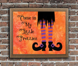 WITCH LEGS Halloween Wall Decoration 8x10 Typography Art Print - J & S Graphics