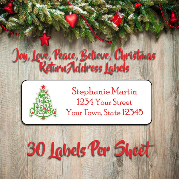 holiday return address labels and more tagged santa j s graphics
