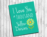 gilmore girls wall print thousand yellow daisies
