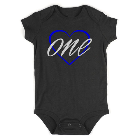 1st birthday boy Baby Bodysuit One Piece Black