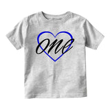1st birthday boy Baby Infant Short Sleeve T-Shirt Grey