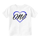 1st birthday boy Baby Infant Short Sleeve T-Shirt White