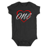 1st birthday girl Baby Bodysuit One Piece Black