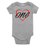1st birthday girl Baby Bodysuit One Piece Grey
