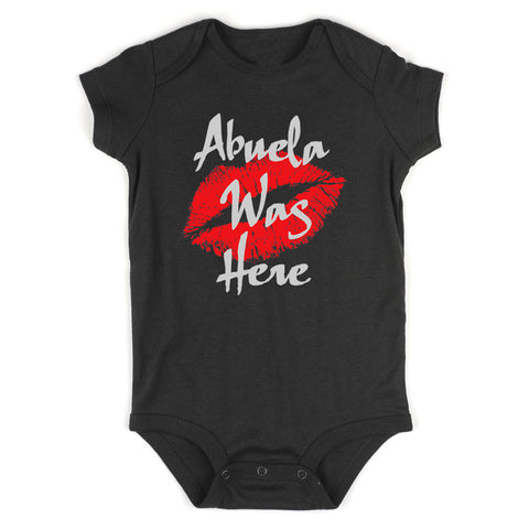 Abuela Was Here Baby Bodysuit One Piece Black