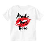 Abuela Was Here Baby Infant Short Sleeve T-Shirt White