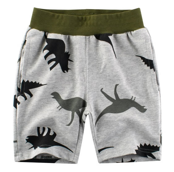 All Over Print Dinosaur Toddler Boys Sweat Shorts