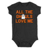 All The Ghouls Love Me Halloween Infant Baby Boys Bodysuit Black